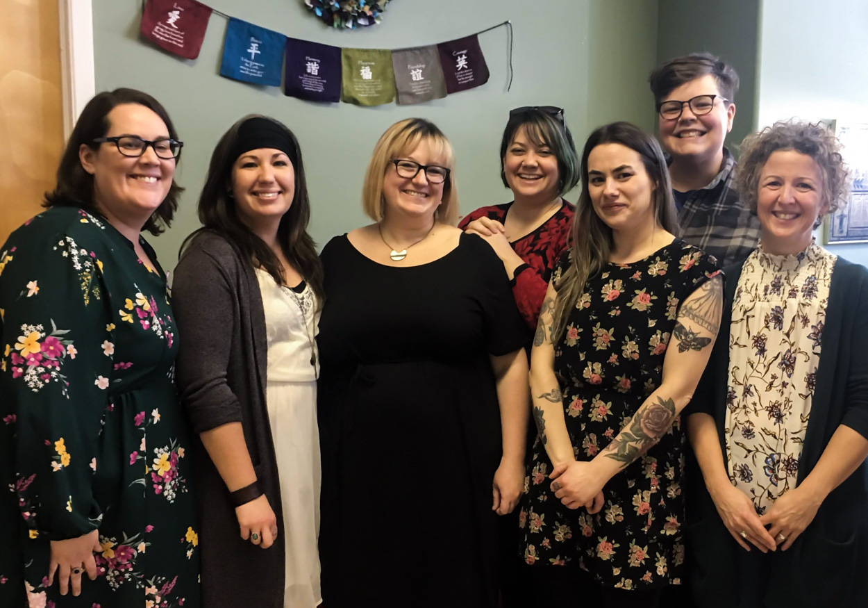 Women's Network PEI staff in December 2018